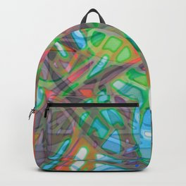 Colorful Abstract Stained Glass G299 Backpack
