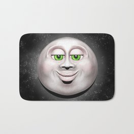 Full Moon Smiling Face 3D  Bath Mat
