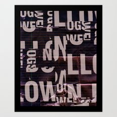 type mess Art Print
