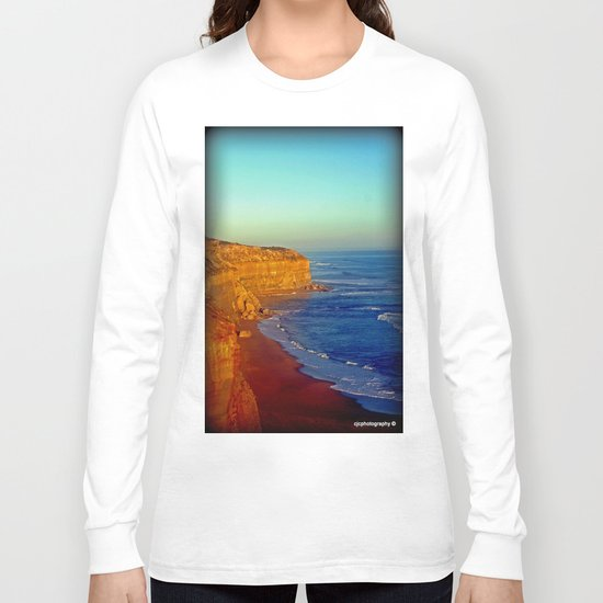 Sunsets on the limestone Cliffs Long Sleeve T-shirt