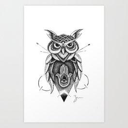 Dotowl Art Print