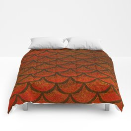 Bronze Brick Scales Comforters