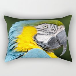 Blue and gold macaw Rectangular Pillow