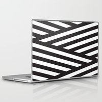 stripes Laptop & iPad Skins featuring Stripes by Dizzy Moments