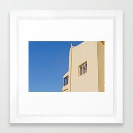 House in the Blue Framed Art Print