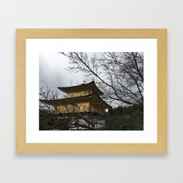 golden pavilion kyoto Framed Art Print