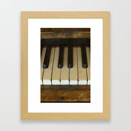 Vintage Piano Framed Art Print