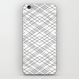 Black and White Circuit iPhone Skin