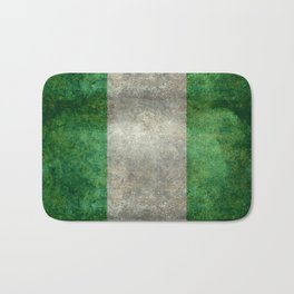 National flag of Nigeria, Vintage textured version Bath Mat