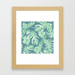 Aloha Leaves Framed Art Print