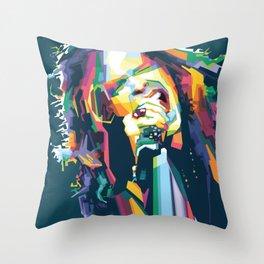 The Demon of Screamin' Throw Pillow