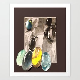 Lost Marbles by Winifred Art Print