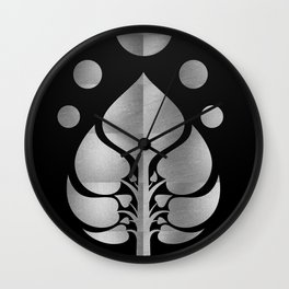 Bodhi Tree0302_SilverNIGHT Wall Clock