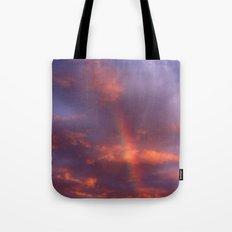 Dramatic Rainbow Tote Bag