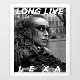 Long Live Lexa Art Print