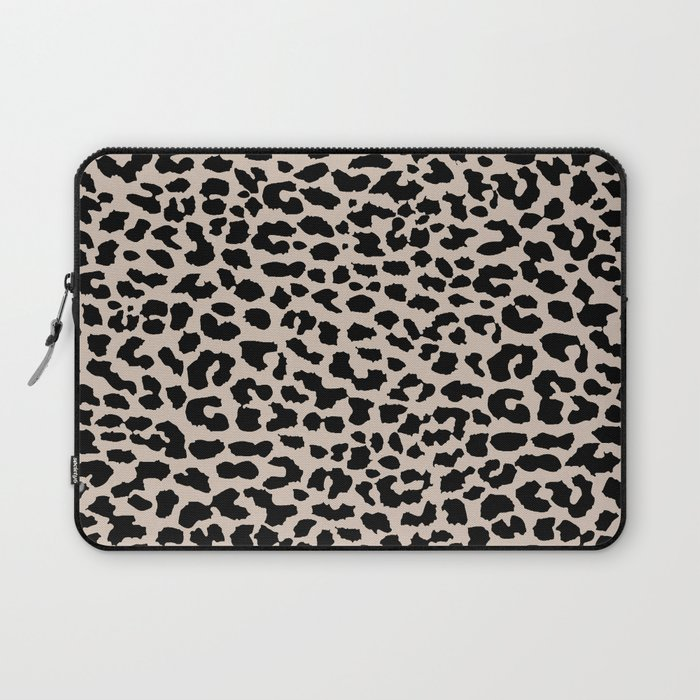 Tan Leopard Laptop Sleeve