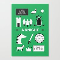 ouat Canvas Prints featuring OUAT - A Knight by Redel Bautista