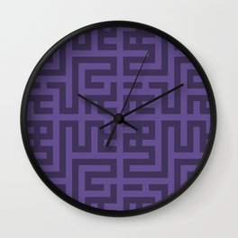 Snake Very Violet Wall Clock