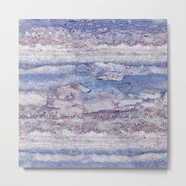 Blue lilac marble Metal Print