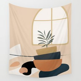 Plant in a Pot Wall Tapestry