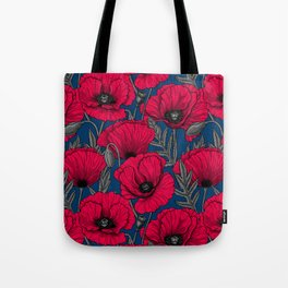 Night poppy garden  Tote Bag