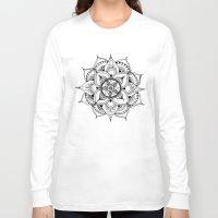 henna Long Sleeve T-shirts featuring Henna Mandala by Ava Elise