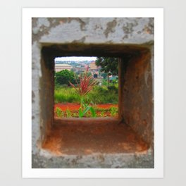 Beauty in The Square Art Print