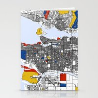 mondrian Stationery Cards featuring Vanvouver Mondrian by Mondrian Maps