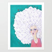 jane davenport Art Prints featuring Puffball by Jane Davenport by Jane Davenport