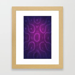 Chladni Pattern - Purple by Spencer Gee Framed Art Print