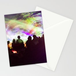 Laser show crowd Stationery Cards