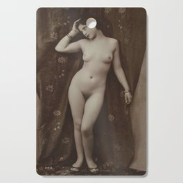 Victorian Vintage Posing Lady Erotic French Nude Postcard Cutting Board