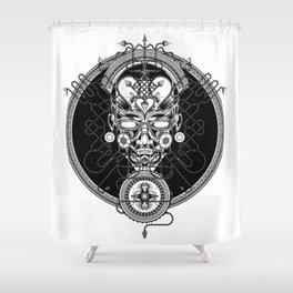 GORGON_GREY Shower Curtain