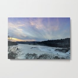 A CHILLY WINTER WILLAMETTE FALLS SUNSET Metal Print