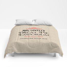 Mrs. Lovett's Meat Pie Emporium (Sweeney Todd) Comforters