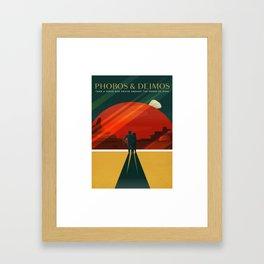 Phobos Deimos Framed Art Print