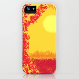 Red Tree, Hot Yellow Sun iPhone Case