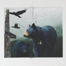 The Sacred Trail of the Great Bear Throw Blanket