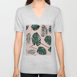 Tropical palm Unisex V-Neck
