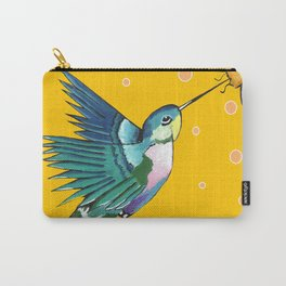 Hummingbird Yellow Carry-All Pouch