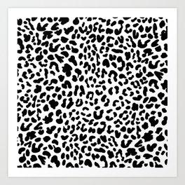 Black & White Leopard Skin Art Print
