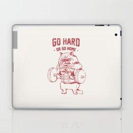 Go Hard or Go home Cat Laptop & iPad Skin