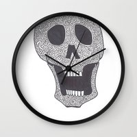 celtic Wall Clocks featuring Celtic Skull by ronnie mcneil