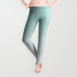 Ombre Duchess Teal and White Smoke Leggings