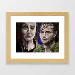 Abigail and Will, acrylic painting Framed Art Print
