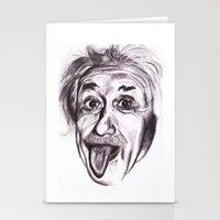 einstein Stationery Cards featuring Einstein by Alicia Evans