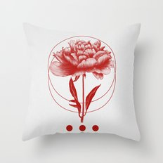 Inked III (Red) Throw Pillow