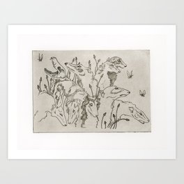 The Greyhound & The Moth Art Print