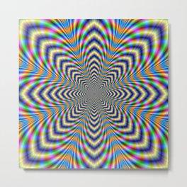 Octagonal Pulse Metal Print
