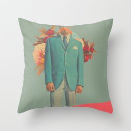 Absent Through my Adultness Throw Pillow